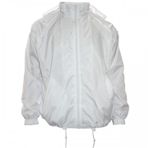 Ветровка для сублимации с капюшоном, белая, размер 52 (XXL)