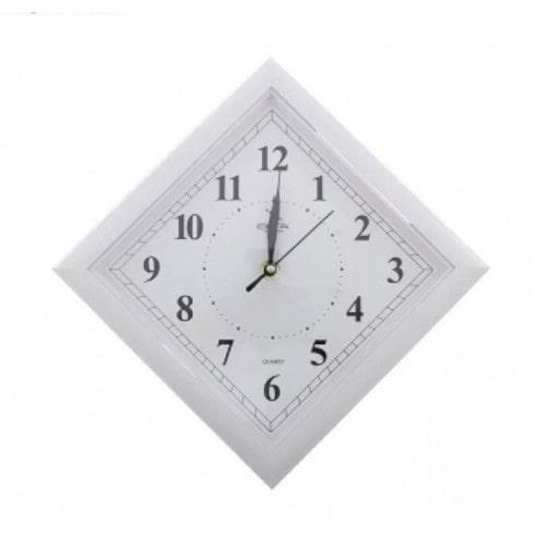 Часы настенные квадрат-ромб белые, 205×205 мм