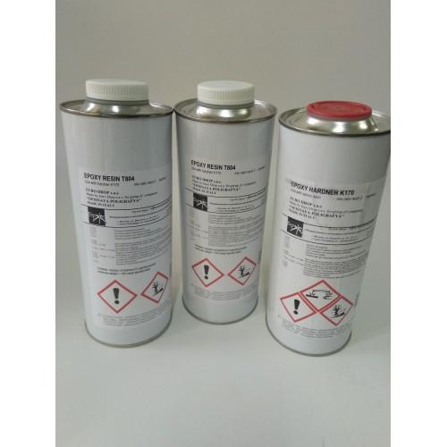 Смола эпоксидная мягкая (комплект смола Т804 2шт+ катализатор К170 1шт) 3кг