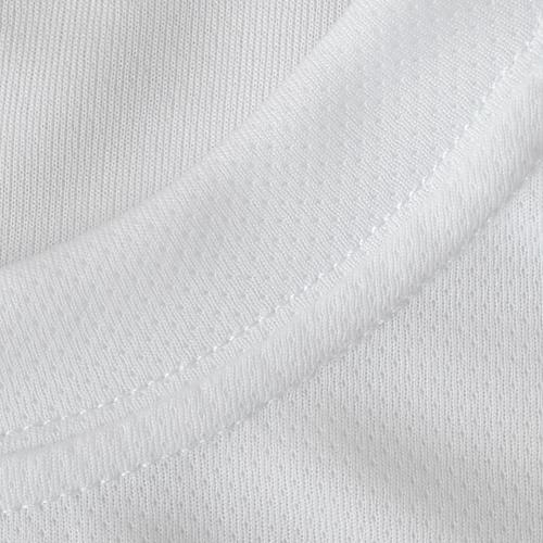 Футболка для сублимации унисекс, ложная сетка, белая, размер 46(М)