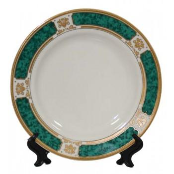 Тарелка для сублимации с зеленым ободком (диаметр 20 см)