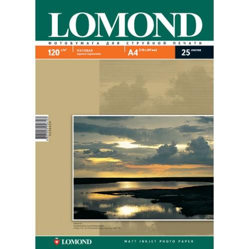 Бумага Lomond  для струйной печати (120гр/А4/25л/МАТТ)  одност.