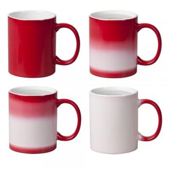 Кружка Color  для термопереноса, красная -хамелеон