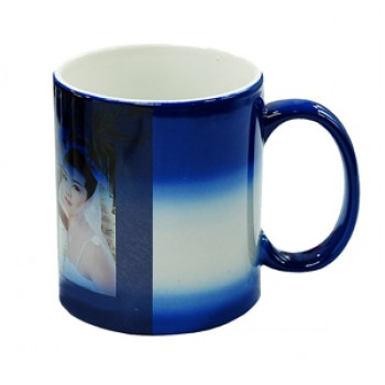 Кружка Color  для термопереноса, синяя -хамелеон
