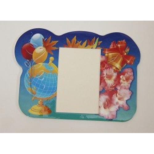 """Заготовка рамка картонная РК-04 """"Школьный глобус шарики"""""""