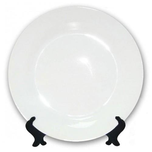 Тарелка для сублимации белая (диаметр 20 см)