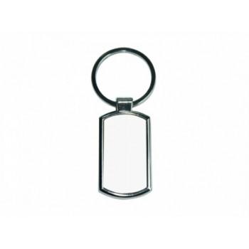 Брелок для сублимации, металлический со скругленными углами