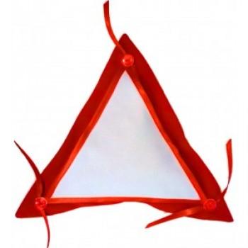 """Подушка для сублимации """"АВТО"""" треугольник (35*35*35), красный"""