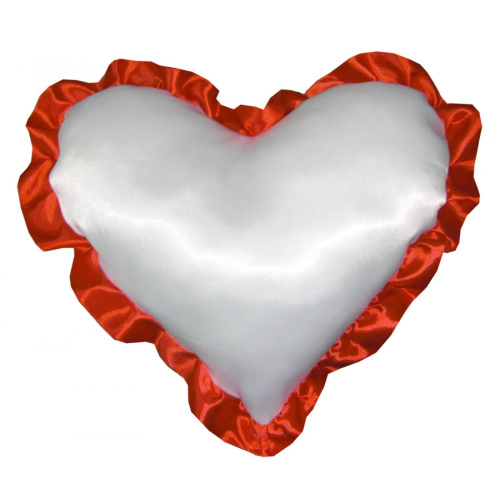 Большая подушка в виде сердца с фотографией