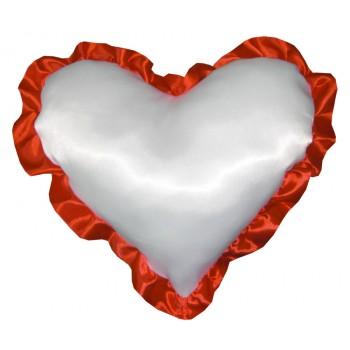 """Подушка для сублимации """"Сердце"""" с рюшей (38х38)"""