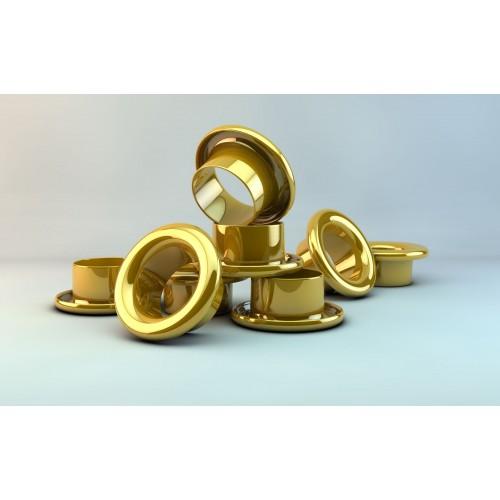 Люверсы d 4, 8 мм, золото (250 шт)