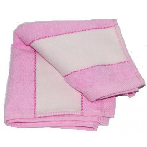 Полотенце с полем для сублимации, розовое