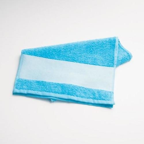 Полотенце с полем для сублимации, голубое