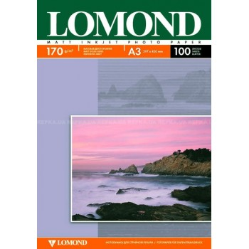 Бумага Lomond для струйной печати двухсторонняя матовая  (170гр/А3/100л/МАТТ) (0102012)