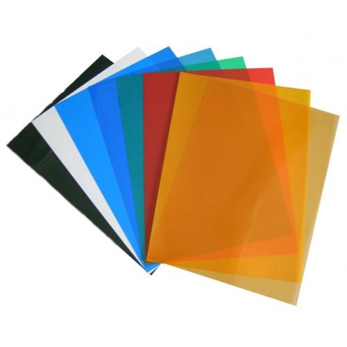 Обложки ПВХ тонированные, желтые, 180 мкм А4, 100 шт