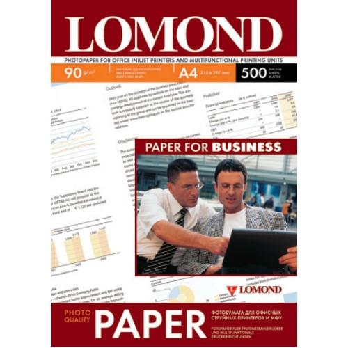Бумага Lomond  для струйной печати (90гр/А4/500л/МАТТ)  одност.
