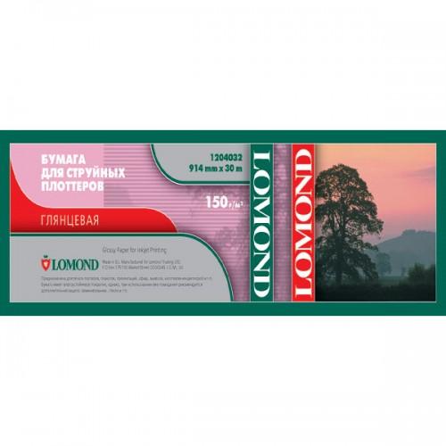Бумага Lomond рулонная глянец  150 г/м2 (914 x 30 x 50, 8)