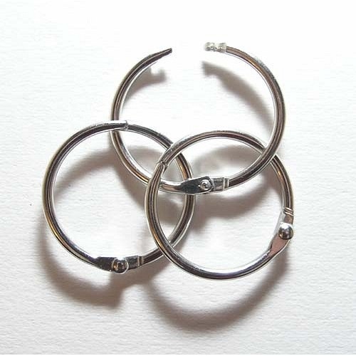 Кольцо разъемное, серебро 50 мм