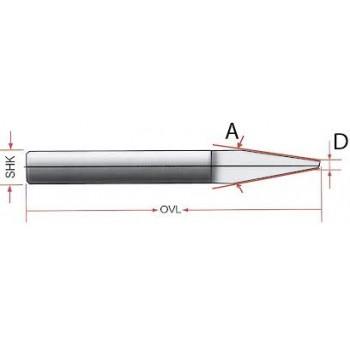 Боры гравировальные 0,1мм х30град
