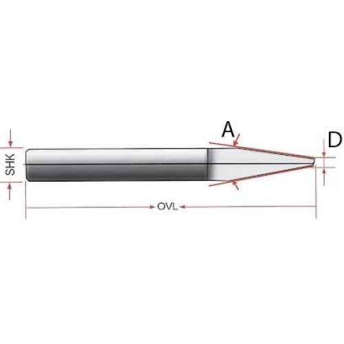 Боры гравировальные 0,5мм х30град