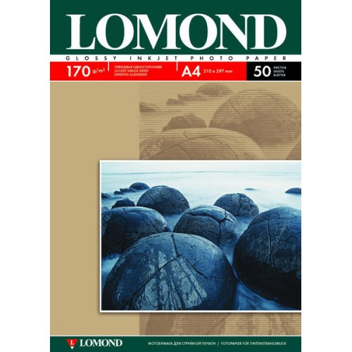 Бумага Lomond для струйной печати (170гр/А4/50л/ГЛ) односторонняя