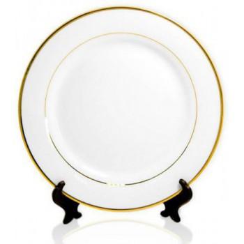 Тарелка для сублимации с золотым ободком (диаметр 25 см)
