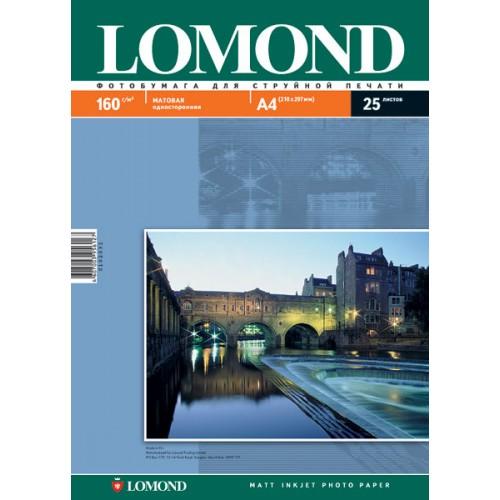 Бумага Lomond для струйной печати (160гр/А4/25л/МАТТ), одност.