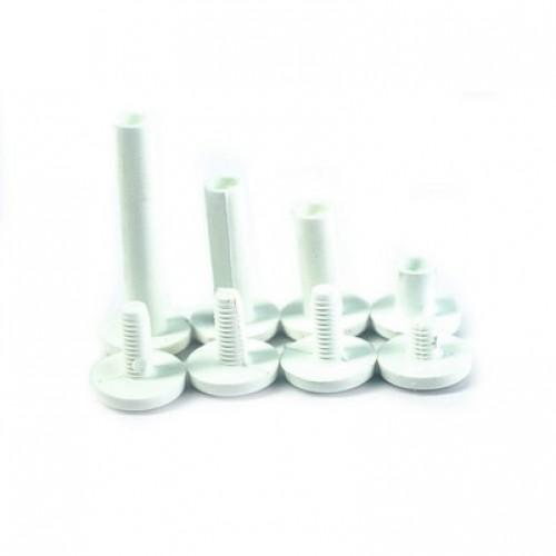 Винт  пластиковый белый, 10мм (1шт)