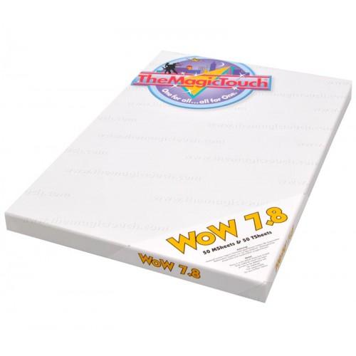 Бумага термотрансферная WoW7.8/50 A4 для черного и цветного текстиля (1/1лист)
