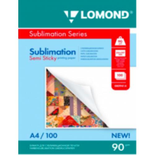 Бумага для сублимации LOMOND липкая 90/А4/100л.
