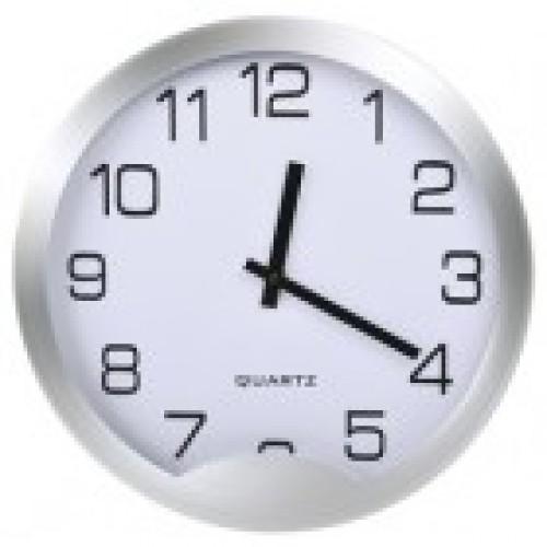 Часы настенные Vivid Large, белые, сборные, D 30,5