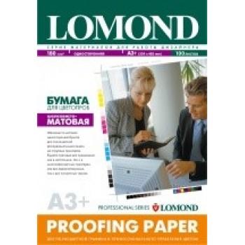 Бумага Lomond для цветопроб (струйная печать), 165 г/м2, двухсторонняя, шел.- матовая, А3+