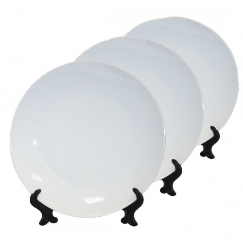 Тарелка для сублимации белая для 3D пресса (диаметр 25 см)