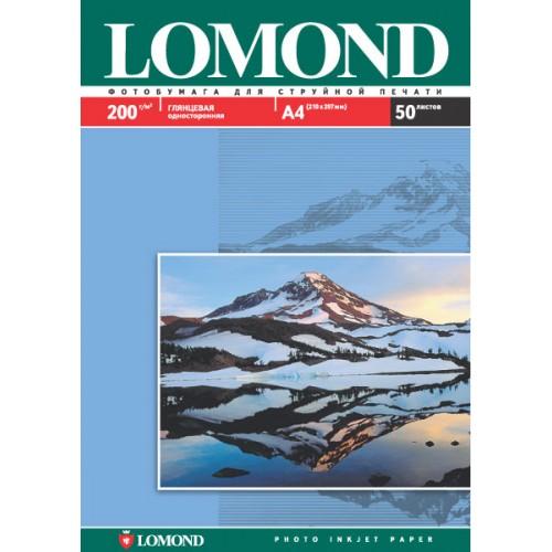 Бумага Lomond для струйной печати (200гр/А4/50л/ГЛ) односторонняя