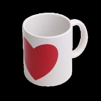 Кружка для термопереноса В3СН хамелеон с сердечком