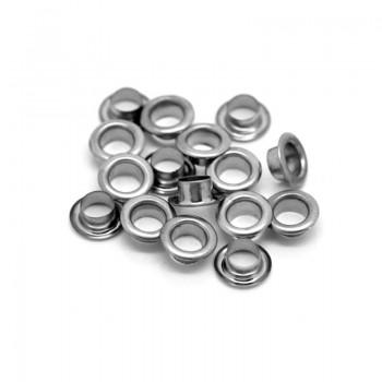 Люверсы d 4,8 мм, серебро (250 шт)
