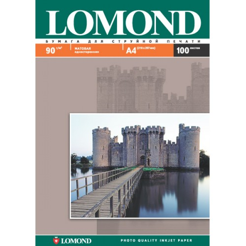 Бумага Lomond А3 односторонняя (90гр/А3/100л) МАТТ