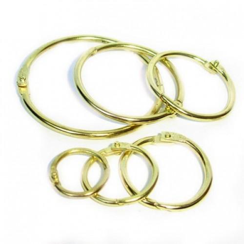 Кольцо разъемное, золото 19 мм