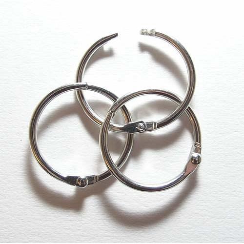 Кольцо разъемное, серебро 25 мм