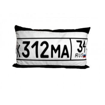 Подушка для сублимации 30х45 черная с белым полем