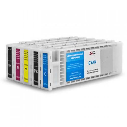 Комплект дозаправляемых картриджей Epson SС-T3200, 5200, 7200 (5 цветов. без чипов)