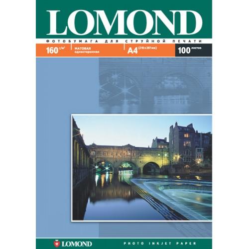 Бумага Lomond для струйной печати (160гр/А4/100л/МАТТ), одност.