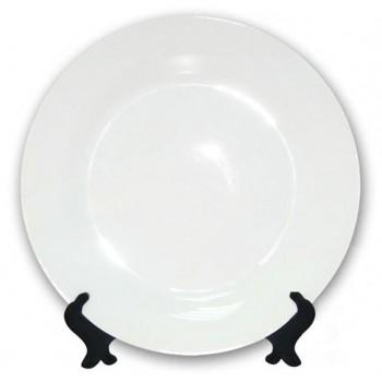 Тарелка для сублимации белая  (диаметр 25 см)