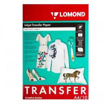 Бумага для струйного принтера для светлых тканей Lomond (А4/10л) 0808411