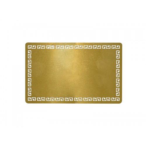 Металлическая заготовка для визитной карточки золотая, 54х86