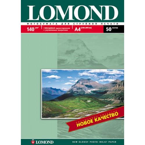 Бумага Lomond для струйной печати (140гр/А4/50л/ГЛ) односторонняя