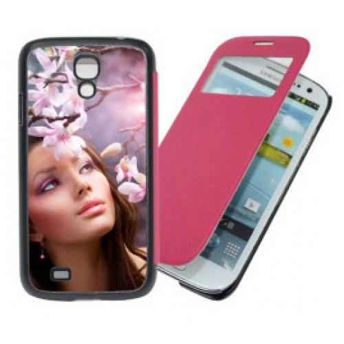 Чехол для Samsung Galaxy S4, складной, розовый, кожзам