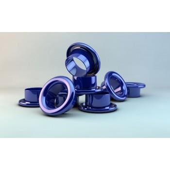Люверсы d 4 мм, синие (1000)