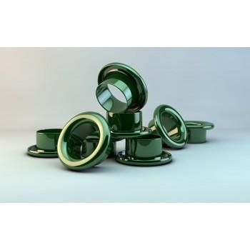 Люверсы d 4 мм, зеленые (1000)