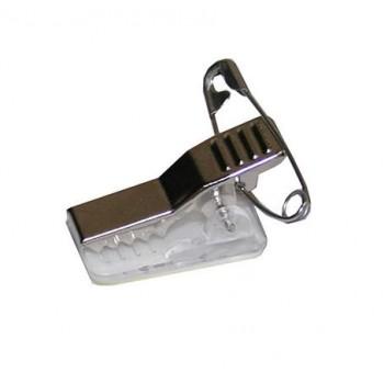 Клипсы (метал., с самоклеющ. клипом и булавкой) 100 шт